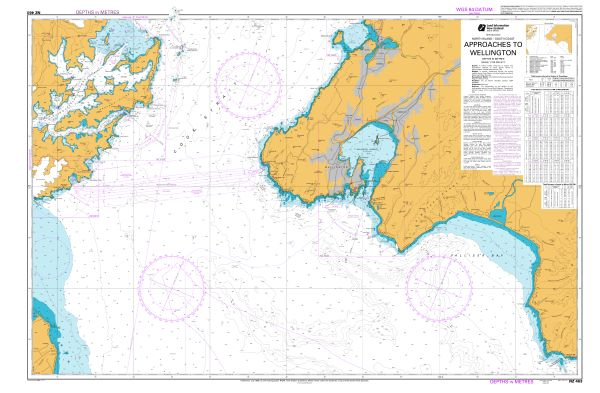 Chart LINZ NZ 463: Approaches to Wellington
