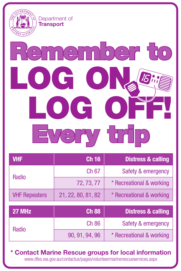 Sticker: Remember to log on and log off