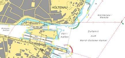 Map of the locks premises for Holtenau (Kiel Canal/Germany)