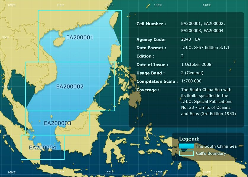 Map EAHC: Limit South China Sea ENC