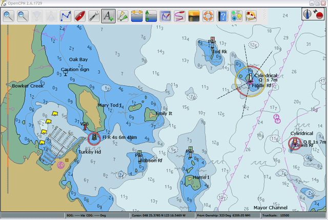 OpenCPN, software for marine navigation